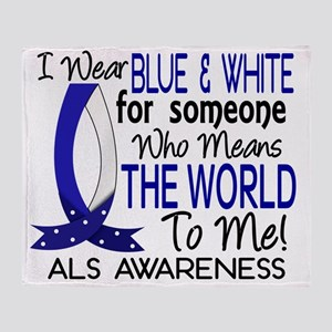 D Means The World To Me ALS Throw Blanket